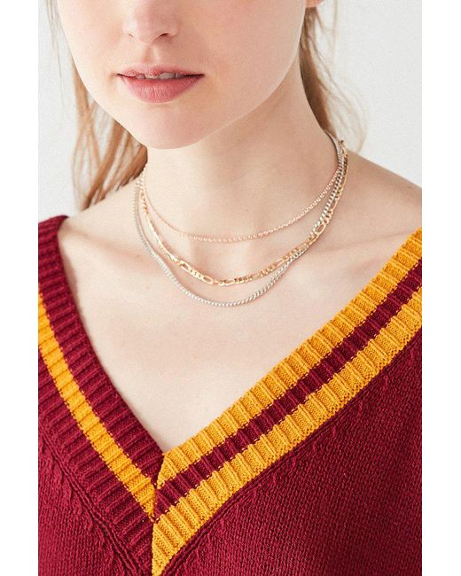 Urban Outfitters | Multicolor Simple Chain Necklace Set | Lyst
