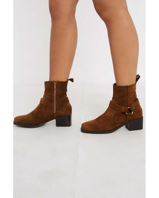 Urban Outfitters Brown Uo Brit Smart Harness Boots