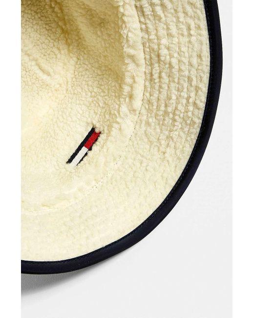 0c8e2fd4d7846a ... Tommy Hilfiger - Blue Reversible Teddy Bucket Hat for Men - Lyst ...