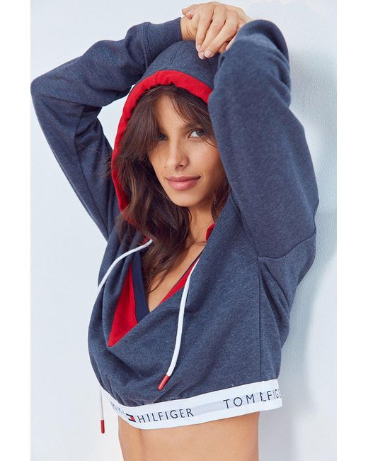 Tommy Hilfiger X Uo Hoodie Sweatshirt In Blue Lyst