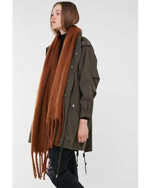 Urban Outfitters Brown Stella Cozy Scarf