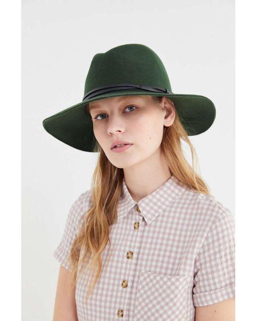 80650271a Women's Green Uo Anna Felt Panama Hat