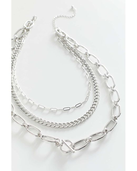 Urban Outfitters Metallic Pepper Statement Layer Necklace