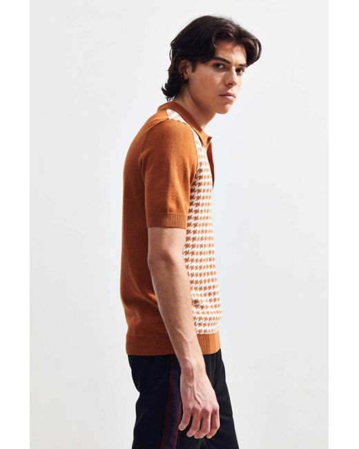 30bc06d65e ... Urban Outfitters - Brown Uo Sweater Polo Shirt for Men - Lyst ...