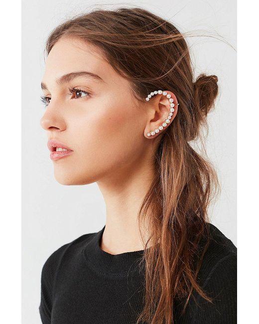 Urban Outfitters | Metallic Pearl Statement Ear Cuff | Lyst