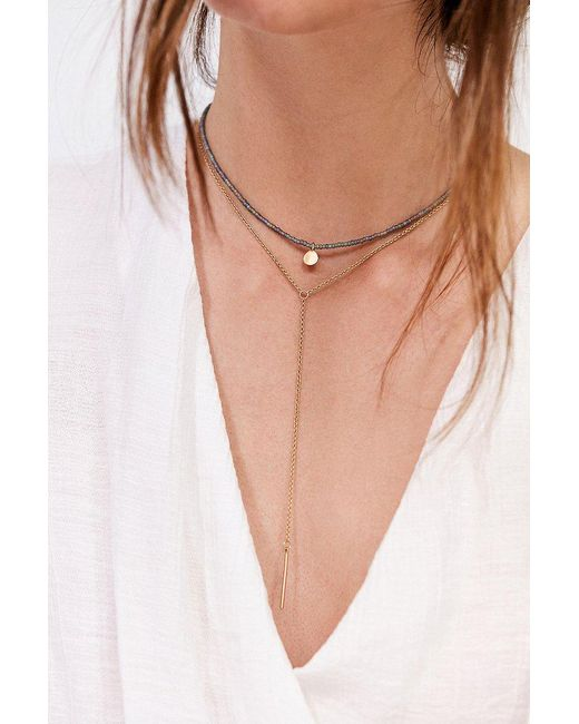 Urban Outfitters | Metallic Maya Beaded Layering Necklace Set | Lyst