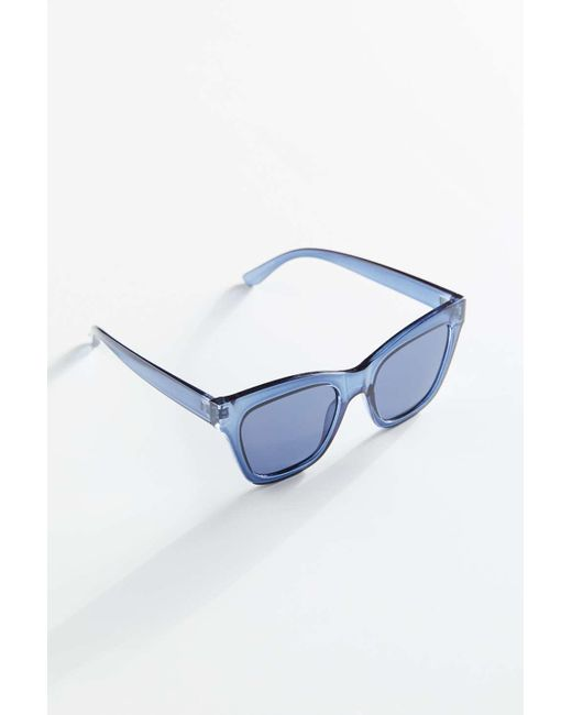 Urban Outfitters Blue All The Way Up Oversized Sunglasses