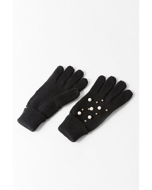 Urban Outfitters | Black Pearl Embellished Glove | Lyst