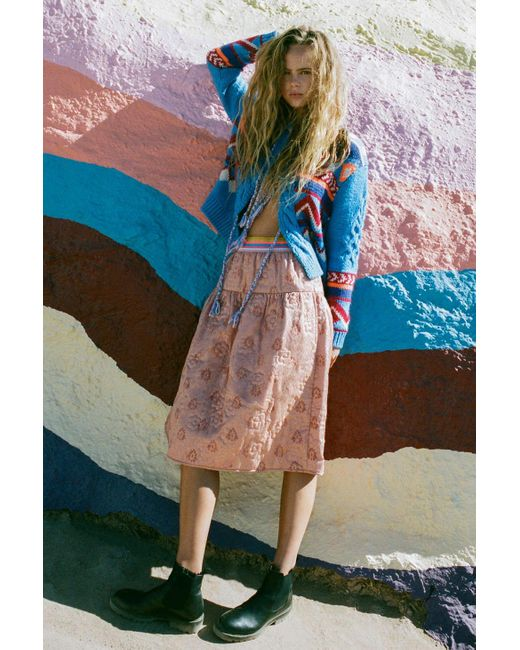 Kimchi Blue Multicolor Estrella Skirt