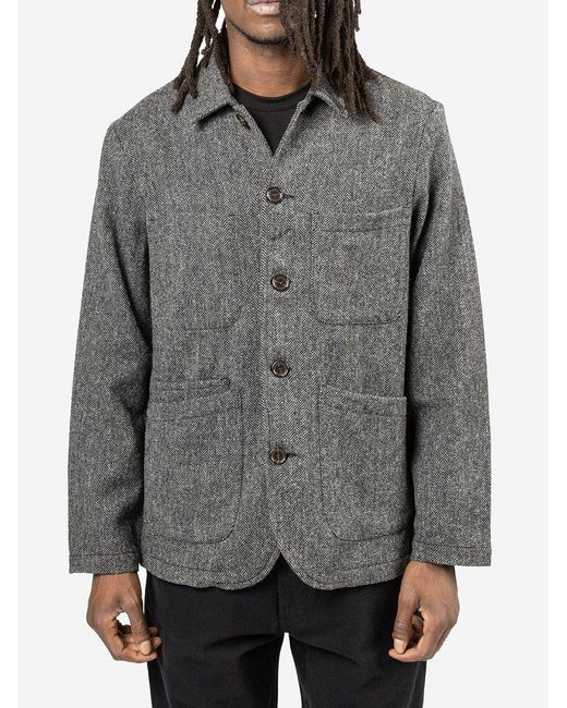 Giacca Bakers in lana di Universal Works in Gray da Uomo