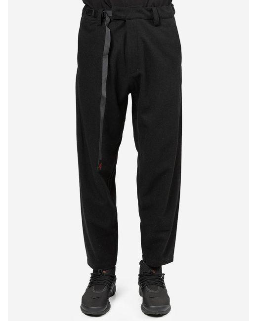 White Mountaineering Black Gramicci Pantalone In Lana for men