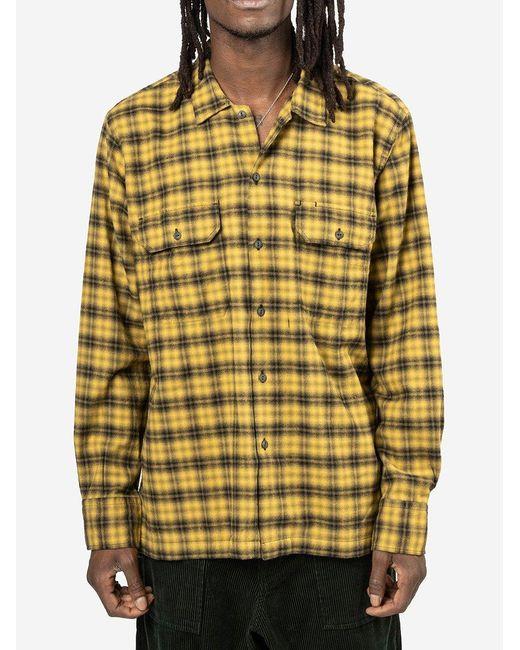 Camicia Utility di Universal Works in Yellow da Uomo