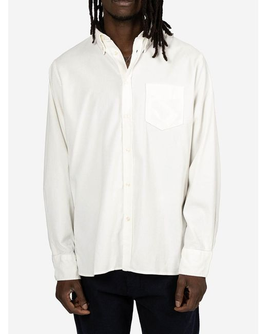 Universal Works White Camicia Everyday for men