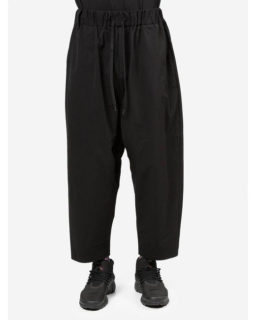 White Mountaineering Black Pantaloni Stretch for men