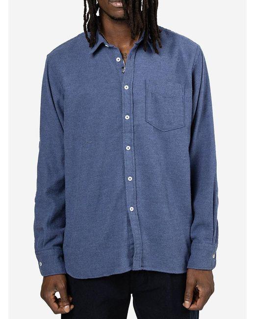 Camicia New Standard di Universal Works in Blue da Uomo