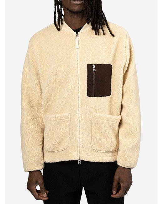 Zip Jacket di Universal Works in Natural da Uomo