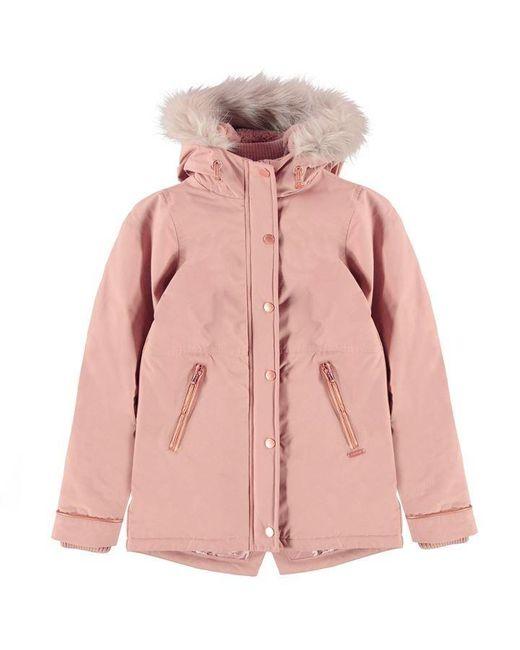 Firetrap Pink Luxury Parka Junior Girls