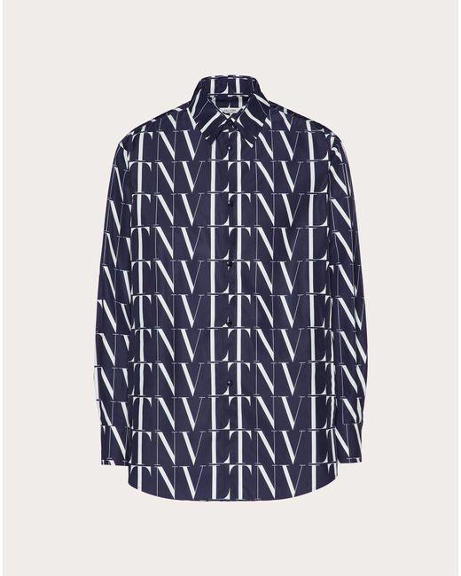 メンズ Valentino Vltnタイムズ シャツ Blue