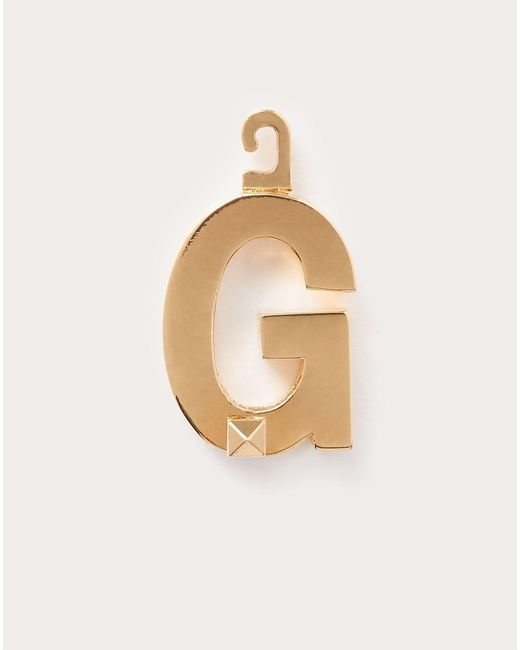 Charm « G » Call Me Valentino Valentino Garavani en coloris Metallic