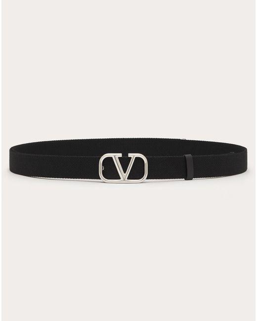Ceinture Vlogo Signature En Ruban Valentino Garavani pour homme en coloris Black