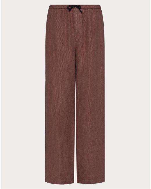 Valentino Multicolor Baggy Fit Linen Pants for men