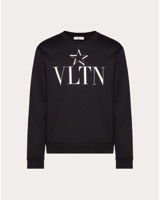 メンズ Valentino スウェットシャツ クルーネック Vltnstar Black