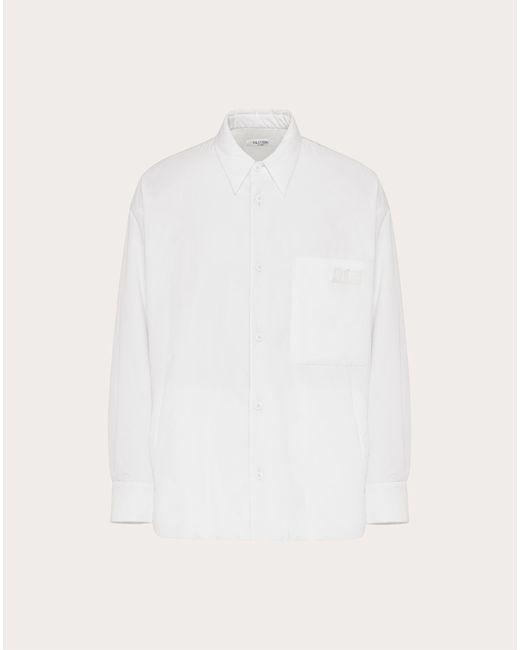メンズ Valentino Valentino Vltnタグ コットンシャツ White