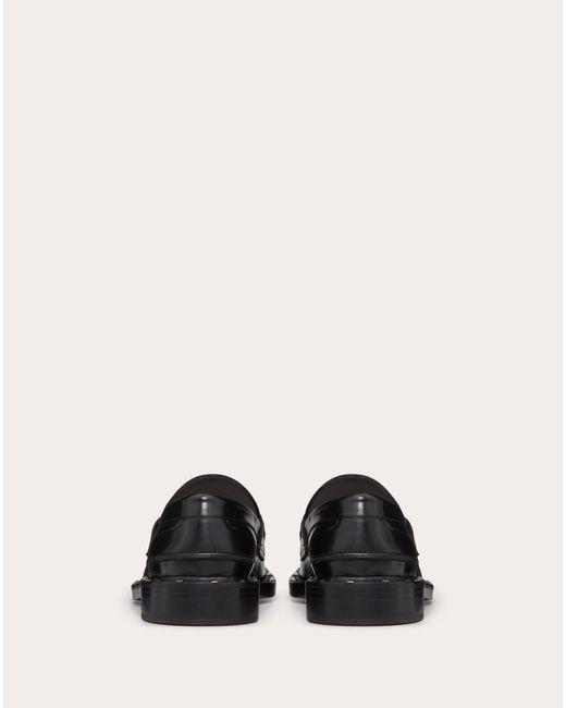 メンズ Valentino Garavani Garavani コレクション ブラック スタッド モカシン ローファー Black