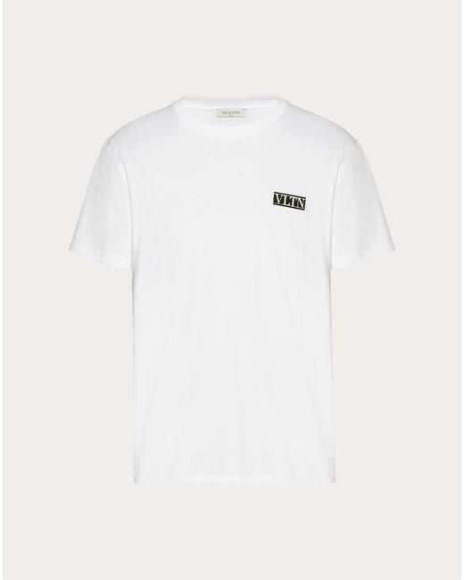 メンズ Valentino Valentino Vltn タグ Tシャツ White