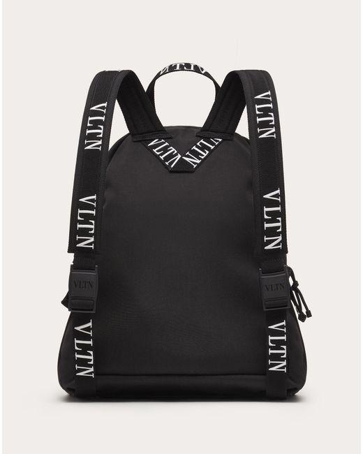 メンズ Valentino Vltn ナイロン バックパック Black