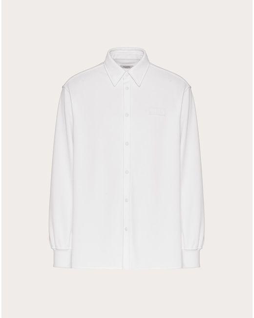 メンズ Valentino Valentino Vltnタグ ジャージーシャツ White