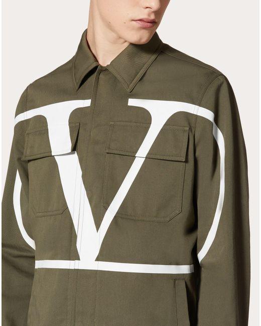 メンズ Valentino Vlogo Signature サファリジャケット Green