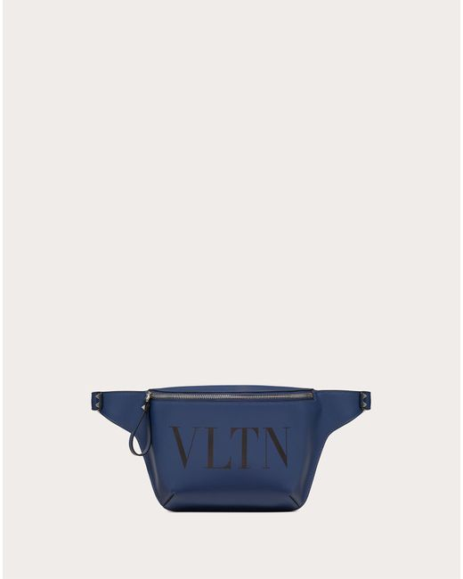 メンズ Valentino Garavani Valentino Garavani Vltn レザー ベルトバッグ Blue