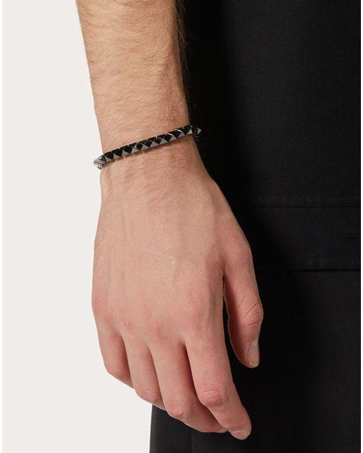 メンズ Valentino Garavani ロックスタッズ メタル ブレスレット Metallic