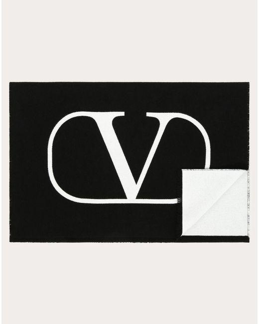 メンズ Valentino Valentino Garavani Vロゴ スカーフ Black