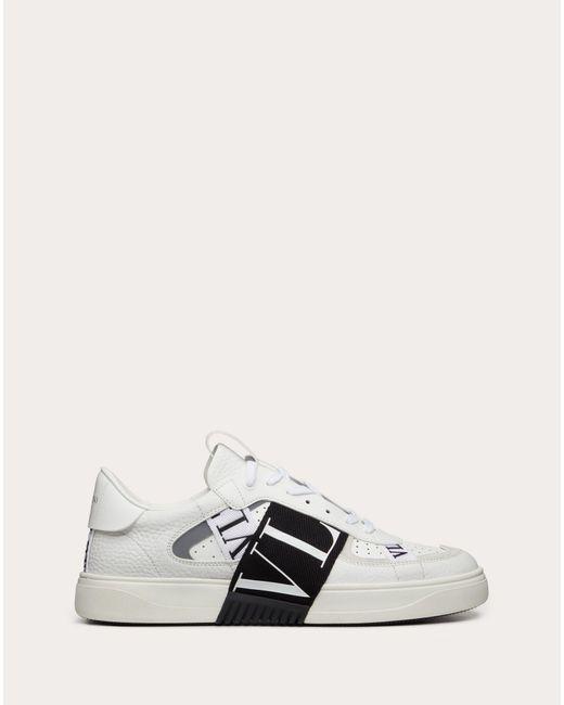 Valentino Garavani Slip-on-sneakers Vl7n Aus Kalbsleder Mit Bändern in White für Herren