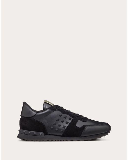 Valentino Black Valentino Garavani Calfskin Rockstud Sneaker for men