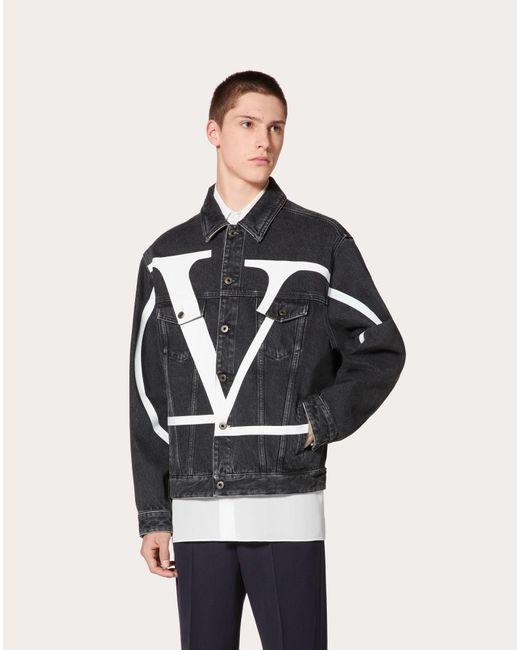 メンズ Valentino Vlogo Signature デニム ブルゾン Multicolor
