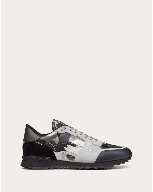 Valentino Gray Valentino Garavani Rockrunner Camouflage Reflective Sneaker for men