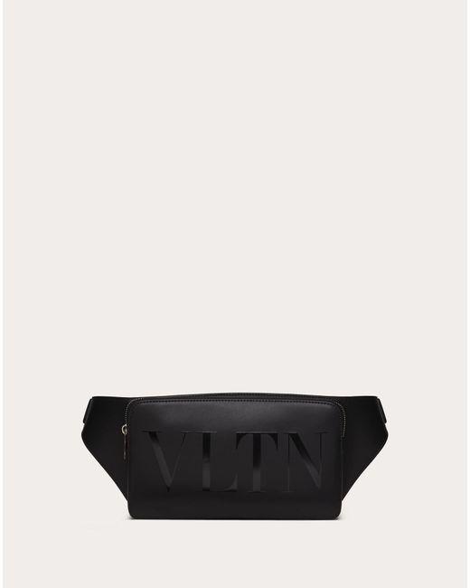 メンズ Valentino Garavani Vltn レザー ベルトバッグ Black