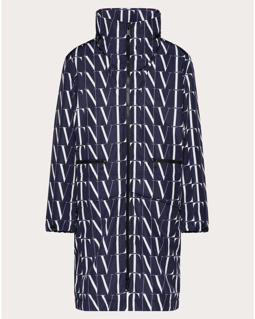メンズ Valentino Vltnタイムズ ロングピーコート Blue