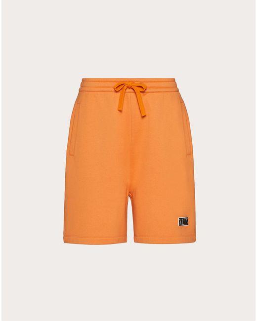 メンズ Valentino Valentino Vltn タグ バミューダパンツ Orange
