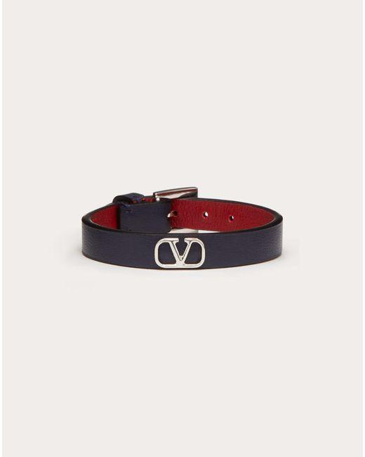 Valentino Blue Valentino Garavani Vlogo Bracelet for men
