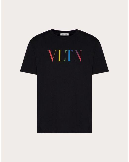 メンズ Valentino Valentino Vltn マルチカラー Tシャツ Black