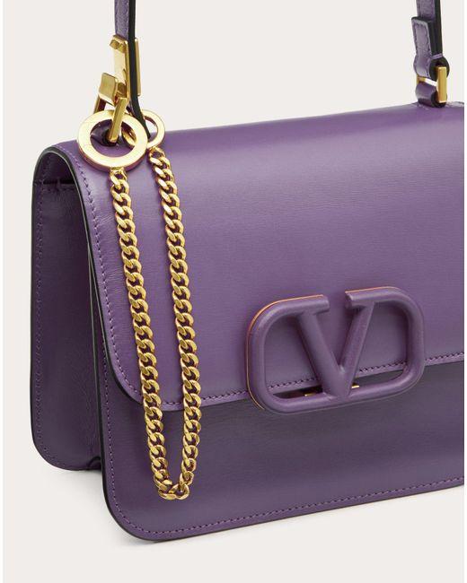 Borsa Piccola A Spalla Vsling In Vitello Lucido di Valentino in Purple