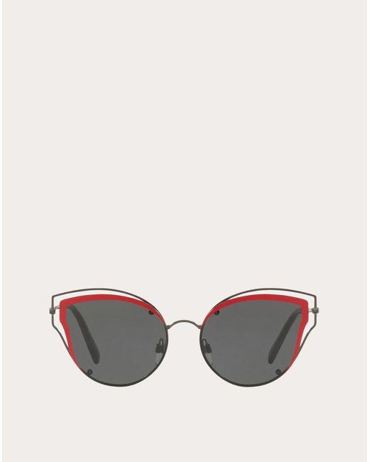 Valentino garavani occhiali occhiale da sole cat-eye in metallo di Valentino in Black