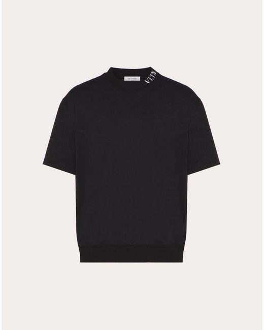 メンズ Valentino Tシャツ Vltnプリント Black
