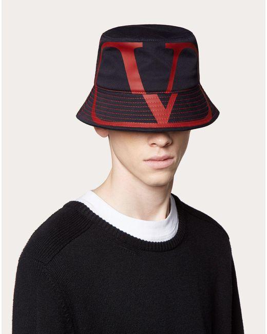 メンズ Valentino Garavani コレクション ネイビー Vlogo バケット ハット Blue