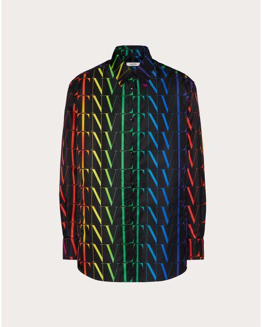 メンズ Valentino Vltnタイムズ マルチカラー シャツ Multicolor