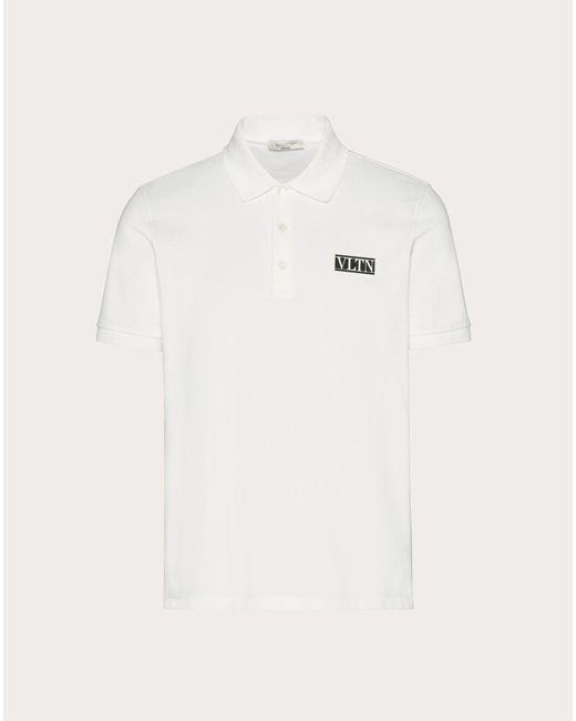 メンズ Valentino Valentino Vltn タグ ポロシャツ White